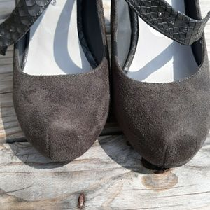 Penny Loves Kenny Shoes - Women's Penny Loves Kenny Gray Suede Stilettos